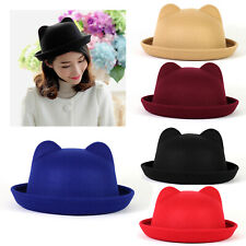 UK Lady Vogue Vintage Women's Trendy Bowler Derby Hat Fashion Elegant Soft Retro