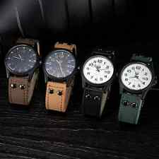 Men's Analog watch with Date Leather Strap Quartz Watch 4 colours UK supplier
