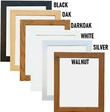 PHOTO FRAME PICTURE FRAME POSTER FRAME WOODEN EFFECT BLACK OAK WHITE WALNUT