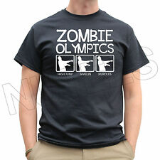 Zombie Olympics Running Jogging Mens Ladies Kids T-Shirts and Vests S-XXL