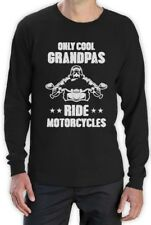 Only Cool Grandpas Ride Motorcycles - Biker Papa Gift Idea Long Sleeve T-Shirt