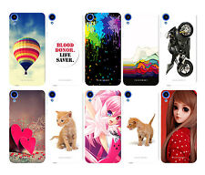 PRINTED SOFT SILICON BACK CASE COVER FOR HTC DESIRE 820