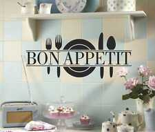 Bon Appetit  wall art stickers vinyl dining room decor decals transfers fs