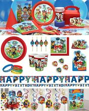 Paw Patrol Party Tableware Birthday Supplies Plates Cups Straws Paws Table Cover