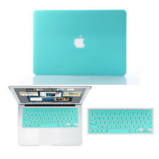 """Tiffany Rubberized Hard Case+Keyboard Cover for Macbook Pro 13/15 Air 11/13""""inch"""