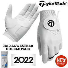 TAYLORMADE GOLF GLOVES TM ALL WEATHER X2 PACK MENS GOLF GLOVES DOUBLE PACK NEW