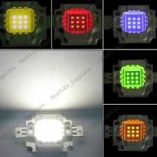 1,5,10Pcs 10W LED Chip Marine Tank Aquarium, Grow light White,Blue,Red,Green,Yel