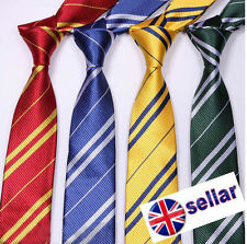 Harry Potter Gryffindor Slytherin Hufflepuff Ravenclaw Style Ties Gift UK Stock