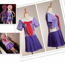 NEW Future Diary Mirai Nikki 2nd Gasai yuno Gasai Costume Cosplay School Uniform