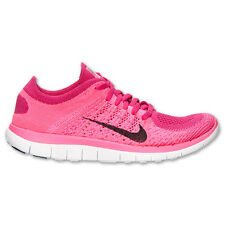 NIKE WOMENS FREE 4.0 FLYKNIT  PINK / FLASH TRAINERS SHOES  SNEAKERS   631050 601