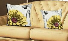 Yellow Flower Vintage Tapestry Cushion Cover+Hollowfibre Cushion  Inners 18''x18
