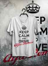 T-SHIRT MAGLIETTA ALFA ROMEO KEEP CALM HAPPINESS UOMO DONNA IDEA REGALO