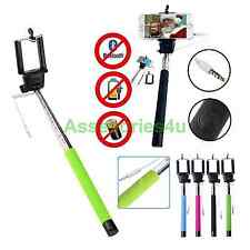 Monopod Selfie Stick Telescopic Wired Remote Mobile Phone holder