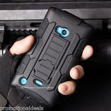 Protective Future Armor Hybrid Hard Back Cover Case For Nokia Lumia 820