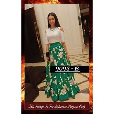 Bollywood Replica - Designer Green & White Party Wear Crop Top Lehenga - 7270