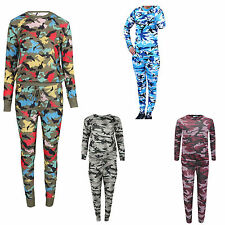 Women Ladies Camouflage Army  MultiColor Tracksuit Jogging Lounge Suit kid Size