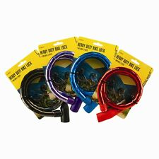 HEAVY DUTY SECURITY BIKE BICYCLE SPIRAL LOCK CYCLE CABLE LOCKING 800X18MM 2KEYS