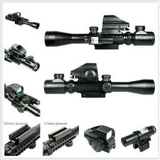 Lots Of 3-9X40EG Rifle Scope with Holographic 4 Reticle Sight And Red Laser JG8