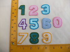 """NUMBERS 0 - 9 EMBROIDERED Iron On/Sew On Patch/Badge 1.5"""" (MIN ORDER 2)"""