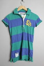 SUPERDRY GS6AH00 RUGNY TENS KINGFISHER GREEN/DECO BLUE SHORT SLEEVE POLO SHIRT