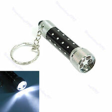 Portable 5 LED Mini Flashlight Light Torch Aluminum KeyRing Key chain UK**
