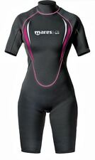 Mares Ladies MANTA SHORTY 2.2mm Wetsuit with Rear Zipper Snorkel Dive Surf Swim