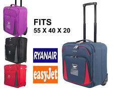 "Ryanair Easyjet 21""/55cm Cabin hand Luggage Trolley  Suitcase Wheeled Luggage"