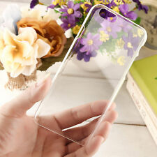 * For APPLE IPHONE * Ultra Thin Clear Transparent Flexible Hard Case Cover
