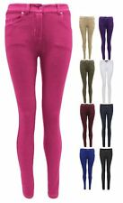 LADIES WOMENS STRETCH SKINNY FIT  JEANS JEGGINGS LEGGINGS TROUSERS SIZE UK8-14