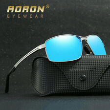 Aluminum Magnesium Sunglasses Polarized Sport Men Coating Mirror Driving Glasses