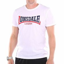 Lonsdale Two Tone T-Shirt Herren, Farbe weiß, 31834