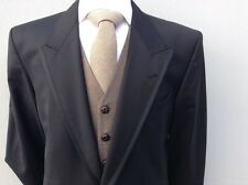 SAVILE ROW OF LONDON EX VERLEIH SCHWARZ 100% WOLLE ROYAL ASCOT FRACK SCHWEIFE