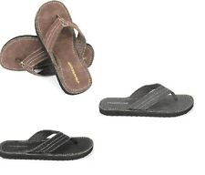 Hombre Ridge playa chanclas Talla 15.2-25.4cm Negro, marrón, Gris Chancletas