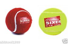 "ORIGINAL ""SIXER"" HEAVY WEIGHT CRICKET TENNIS BALL FOR INDOOR AND OUTDOOR USE"