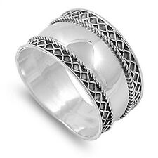 Bold Braided Bali Ring, 925 Sterling Silver w FREE Gift Box, Trendy, Girly, Sexy