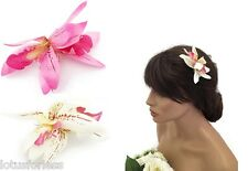 Pretty SMALL Orchid Flower Hair Grip Clip Fascinator Colour Choice Ladies Girls