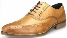 Red Tape Kildare Marrón Tostado Zapatos Oxford Con Cordones Hombres Inteligentes