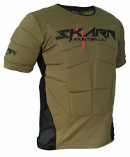 SKARR Paintball Body Armour OLIVE GREEN Padded Bounce Vest Airsoft Chest Protect