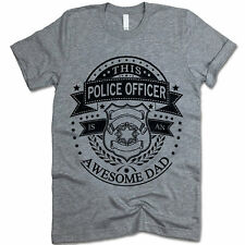 This Police Officer Is an Awesome DAD Shirt. Gift For Dad. Fathers Day Gift