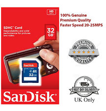 100% Authentic SanDisk 8GB 16GB 32GB Class 4 SDHC SDXC SD Memory Card for Camera