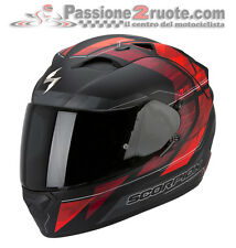 Casco integrale Scorpion Exo 1200 Hornet nero opaco rosso moto air pump