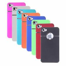 Quality Matte Hard Back Chrome Ring Case Cover Skin For Apple iPhone 4S 4