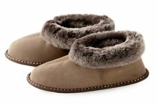 LADIES GENUINE SHEEPSKIN slippers Womens boots Leather Fur Mules size 5 6 6.5 7