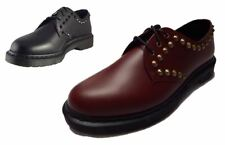 Dr Martens Mens 1461 Cedar 3 Eye Smooth Leather Spike Punk Shoes