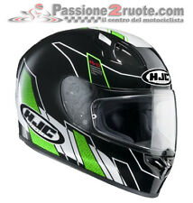 Casco integrale Hjc Fg-17 Fg17 Zodd MC4 nero verde moto in fibra
