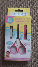 BABY FIRST MANICURE SET SCISSORS NAIL CLIPPERS SAFETY SLEEVE BABY  TODDLER