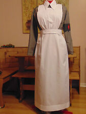 WW1 WW2  STYLE NURSE COSTUME VAD INSPIRED RED CROSS CYBLE - CHOOSE SIZE