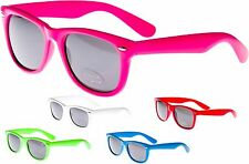 Wayfarer Sunglasses Mens Ladies Neon Retro Aviator 80s Fashion Shades UV40