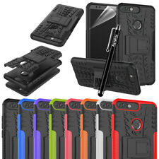 Huawei Phone Shock Proof Heavy Duty Armour Tough With Stand Case Cover Back Case
