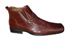 Mens Dress Shoes Slip on Loafers Leather Lined + Free Shoe Horn 689 Brown